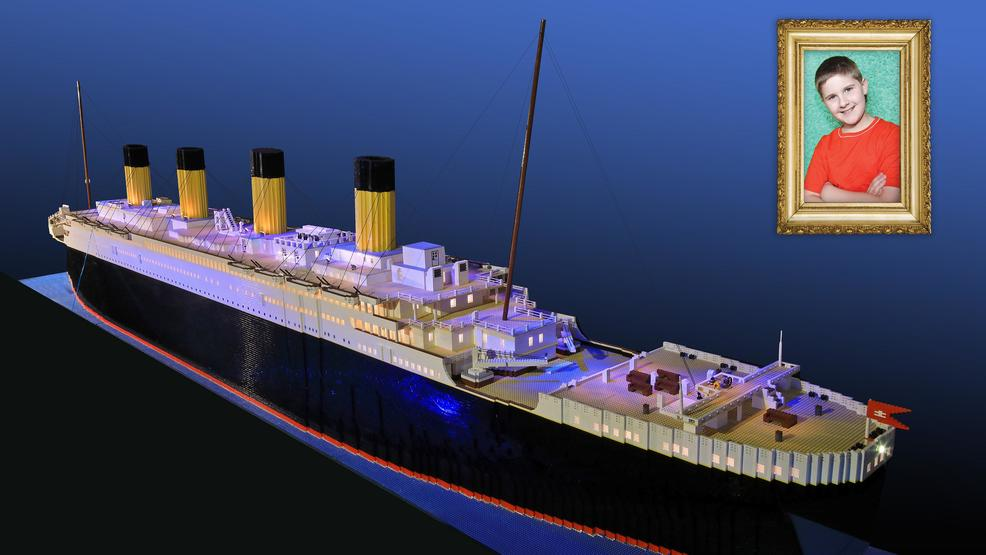 Boy with autism builds world's largest Titanic LEGO replica