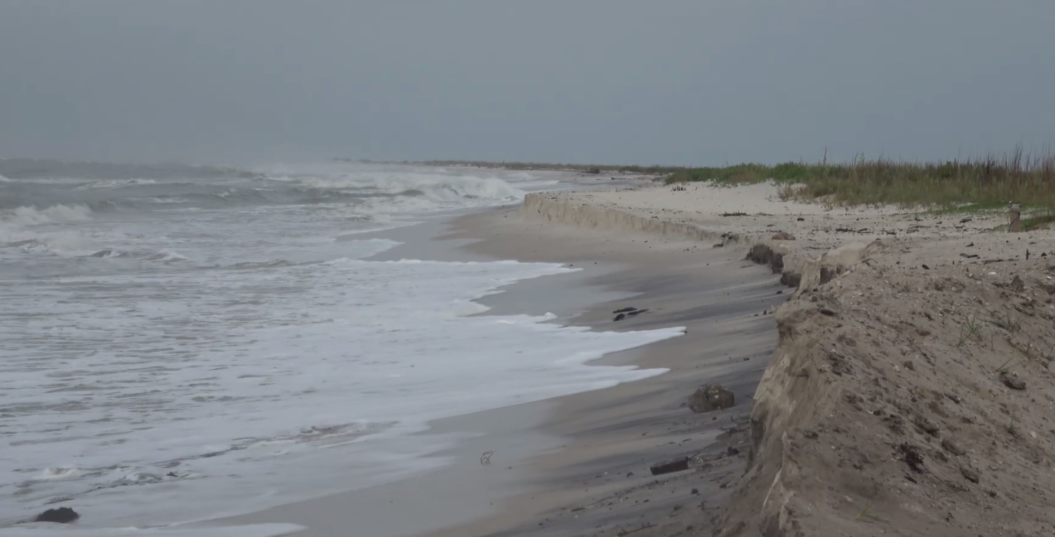 Alabama coast sees erosion and high surf as Hurricane Nate approaches Saturday, October 7, 2017. (Courtesy Gary Schmitt, Live Storms Media)