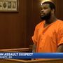 Courtroom assault suspect makes another appearance