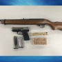 Rifle, handgun and ammunition seized after search