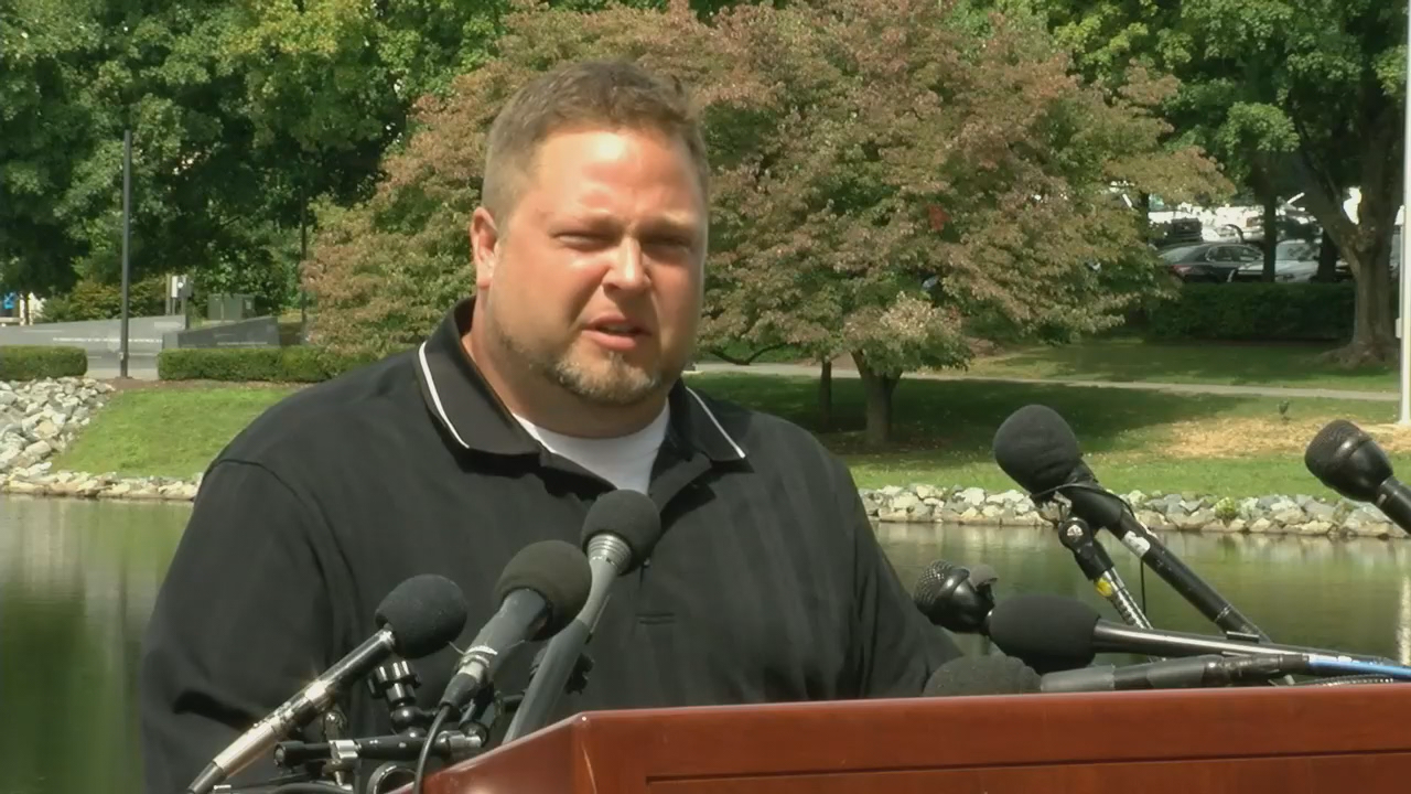 Tyler Tessier, Laura Wallen's boyfriend and accused murder suspect, spoke during a press conference Monday, September 11, 2017. (ABC7)