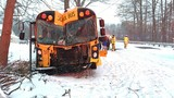 UPDATE: Teenager in hospital after Cass County crash involving school bus
