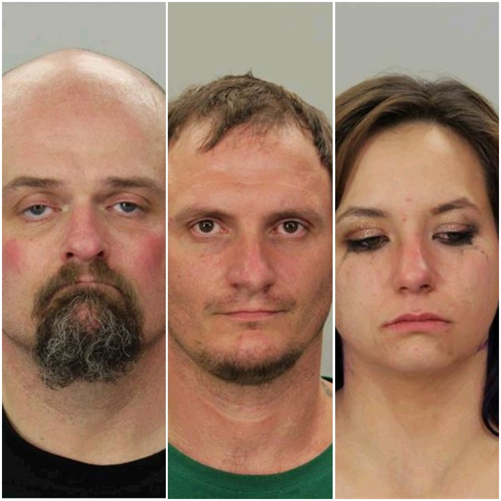 Craig Hibdon, Guy Allen, &amp;amp; Kristin Mayer were arrested in Coos Bay on drug-related charges following a traffic stop, Jan. 11, 2018.{&amp;nbsp;}(Coos County Sheriff's Office booking photos)<p></p>