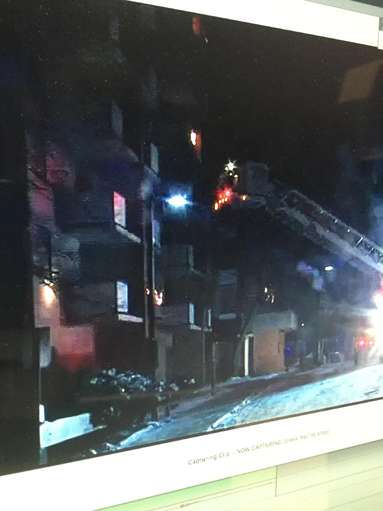 One person killed in early morning apt. fire in Kalamazoo.  (Photo: Stephen Wozny WWMT)