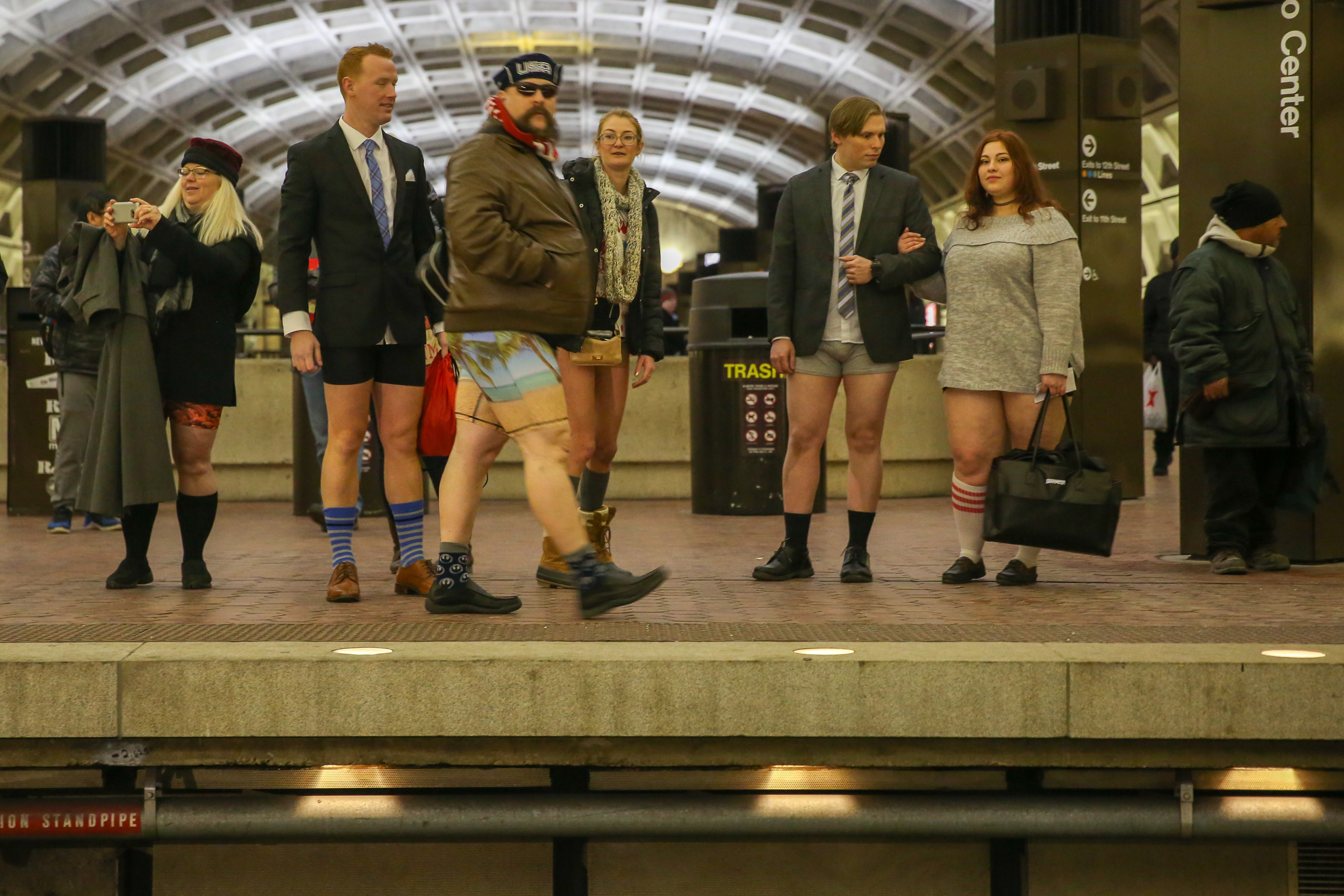 If taking your pants off and riding the metro in your undies just for funsies is your jam, then this is the event for you. Sunday, January 13, 3 p.m., L'Enfant Metro.  (Image: Amanda Andrade-Rhoades/DC Refined)