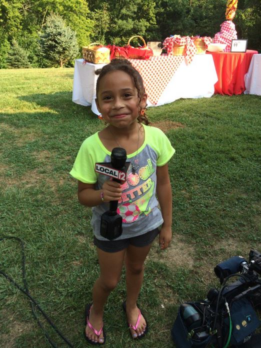 "Erica Collura was live Thursday, August 4, in Covington, Ky. for ""Grillin' For Tim"". (WKRC/Erica Collura)"