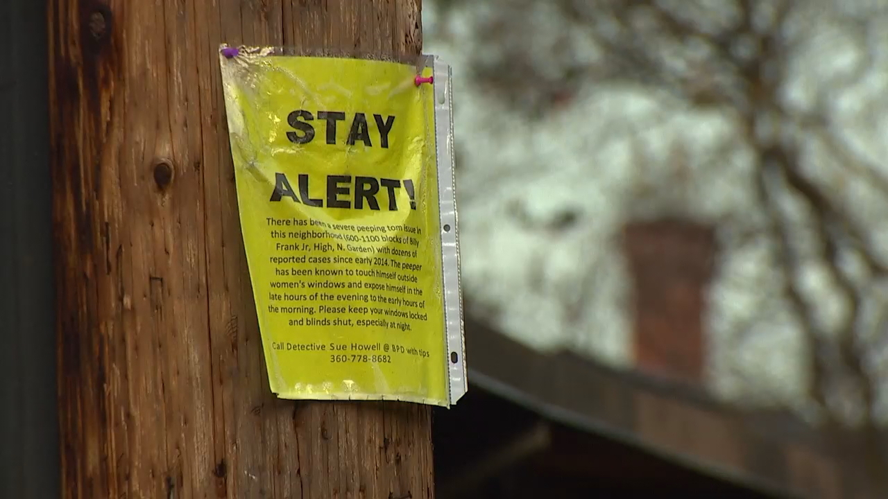 About 15 cases of indecent exposure or voyeurism have been reported since summer in Bellingham, police said. (Photo: KOMO News)<p></p>