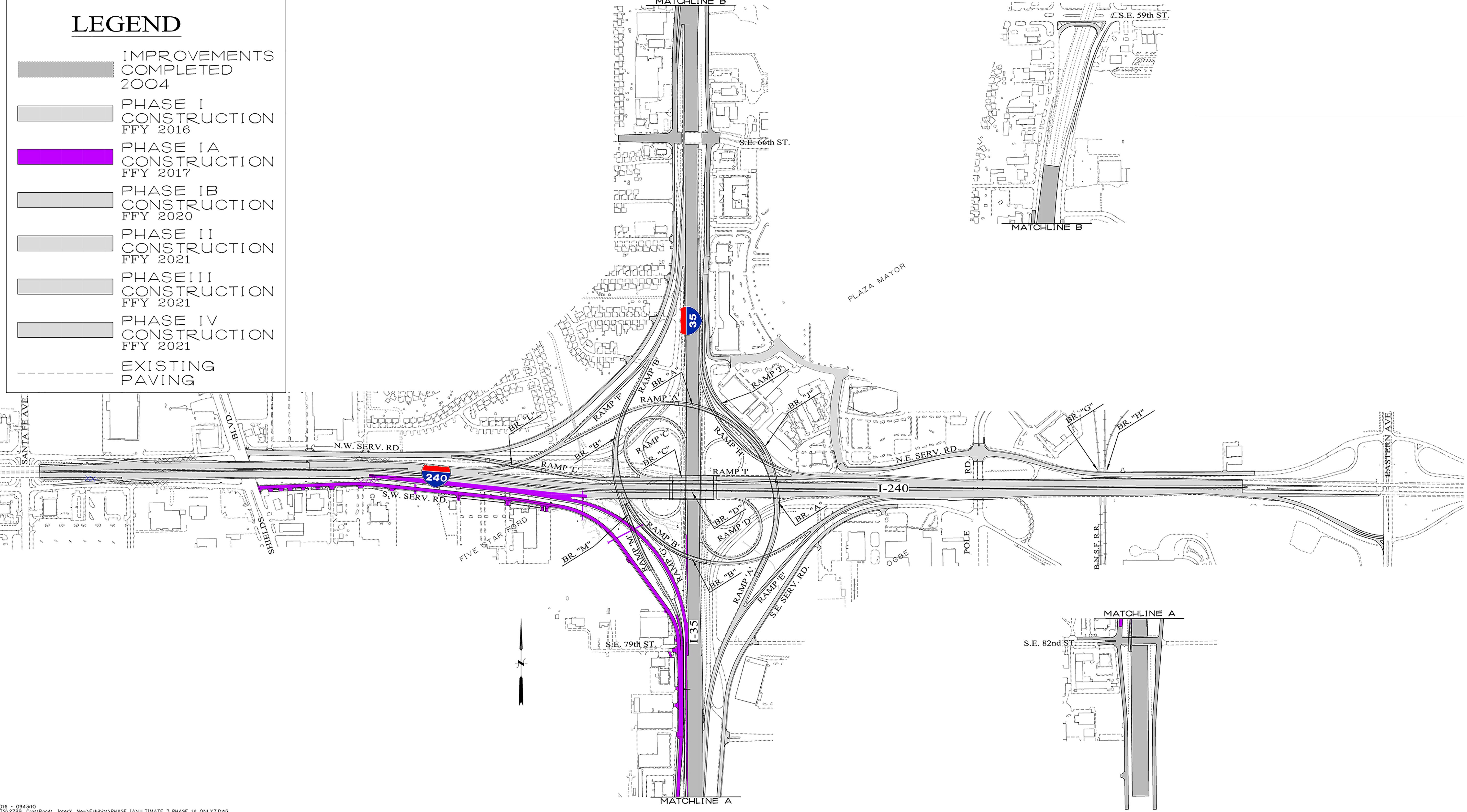 Phase two of the project to improve I-240/I-35 corridor begins Monday, June 19. (Courtesy: ODOT)