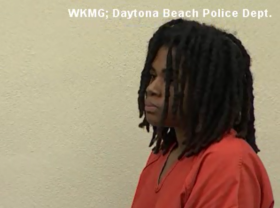 Authorities say a 24-year-old woman was arrested after her 5-year-old son was found so underweight that he was not on the child medical charts for kids his age. (WKMG via CNN Newsource)