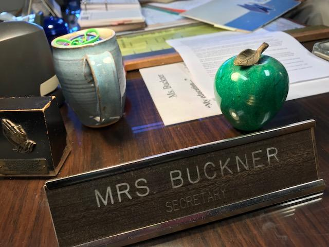 Carol Buckner has been the keeper of the community's history and the school's history for over 50 years. (Photo credit: WLOS Staff)