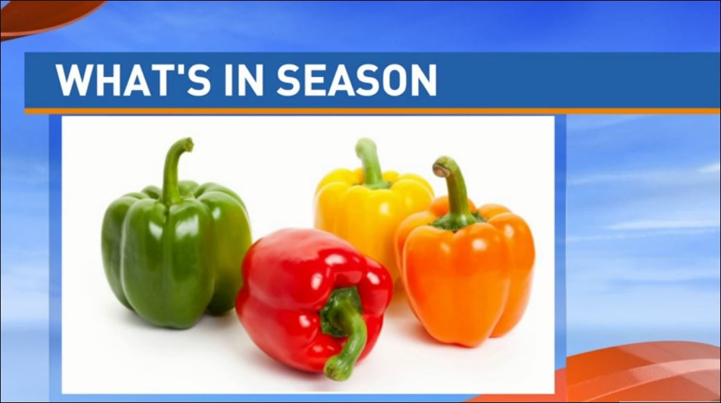 Ryan Jacobsen with the Fresno County Farm Bureau visited Great Day to talk about What's In Season: Bell Peppers.