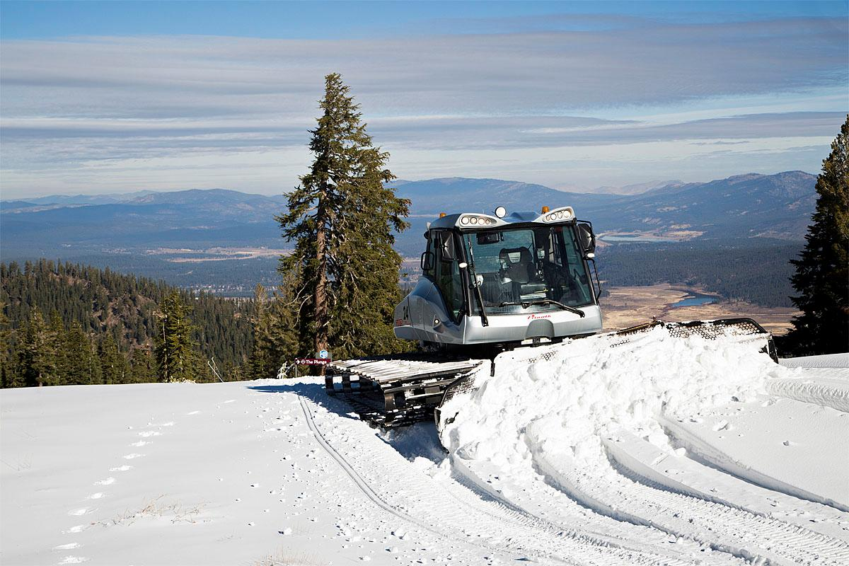 In this photo provided by the Northstar California Resort, colder temperatures brought out the snowcats at Northstar California as the mountain prepares for opening day Friday, Nov. 18, 2016 in Truckee, Calif. The resort opens on Nov. 23. (Northstar California Resort via AP)