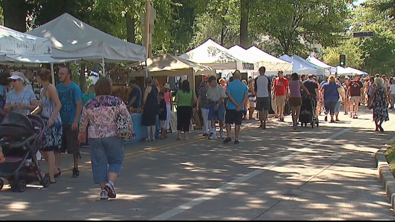 The Trout Museum of Art hosted the 56th annual Art at the Park at Appleton's city park, July 31, 2016. (WLUK)
