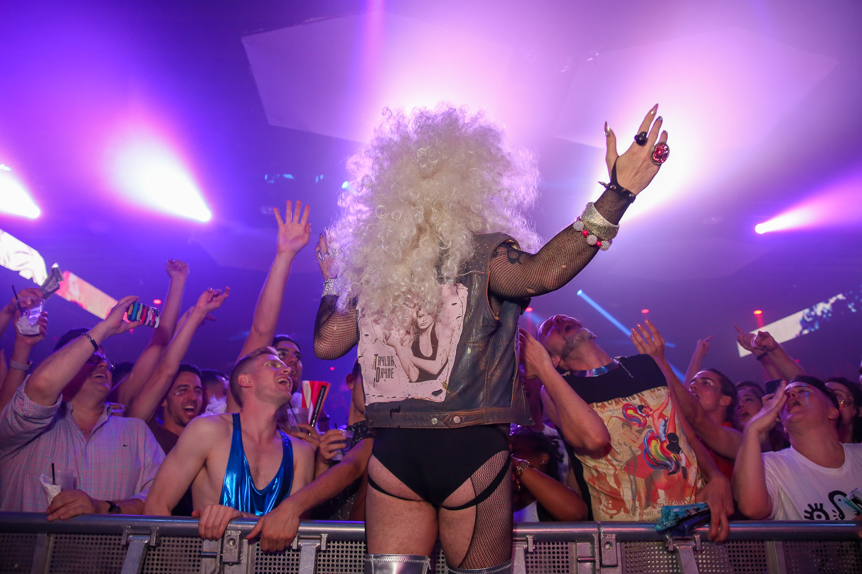 Pride weekend is here and the festivities started with an 'Earth,{ }Wind,{ }Glitter, &{ }Fire'-themed party at Echostage, put on by Capital Pride and Brightest Young Things. The evening featured drag performances, voguing, music and glitter stations. (Amanda Andrade-Rhoades/DC Refined)