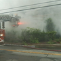 Crews battle smokey fire in West Warwick