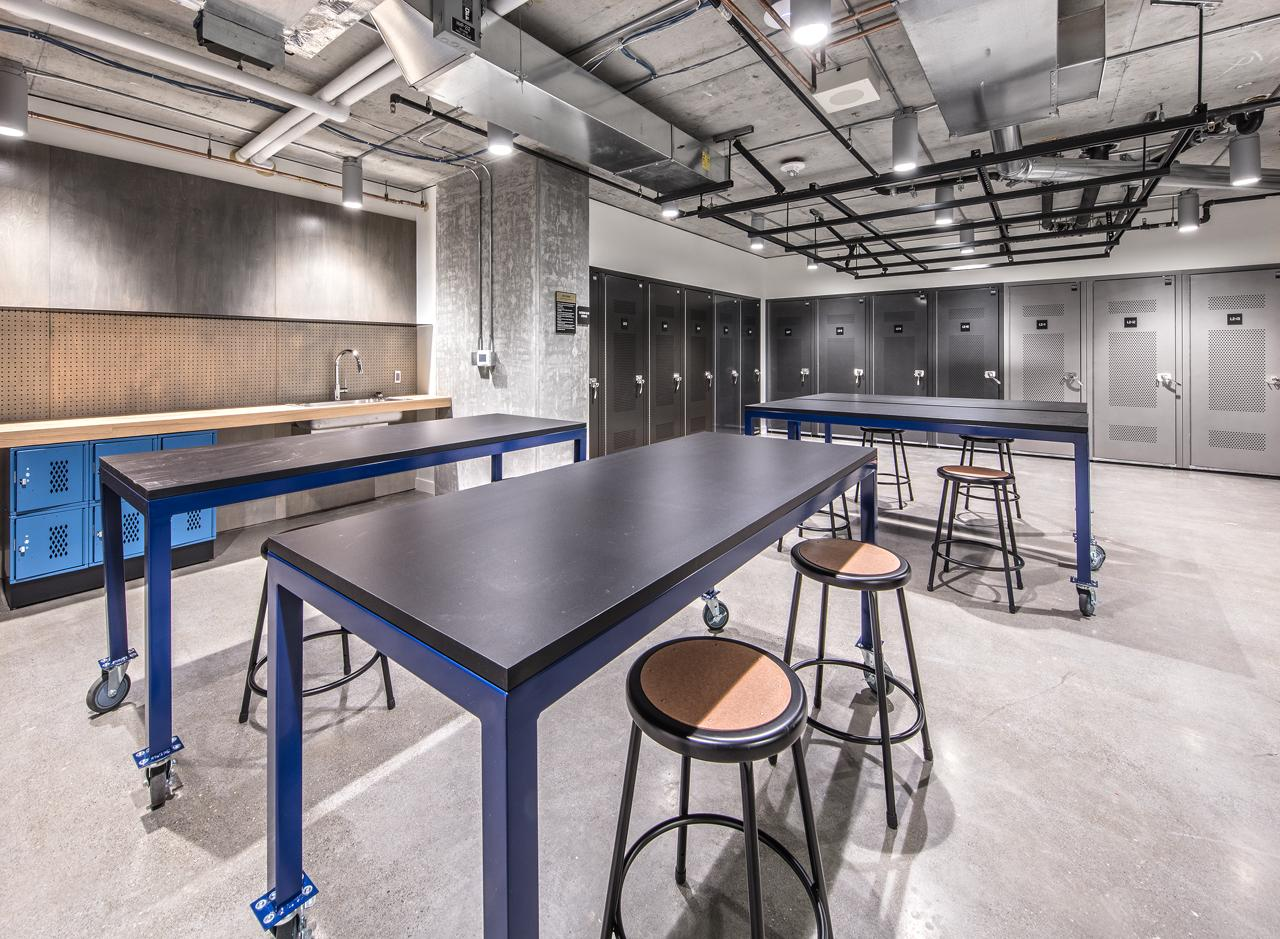 The DIY Studio + Workshop serves as a studio for makers and builders with drying racks for tents &amp;amp; gear.<p></p>